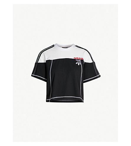 ADIDAS X ALEXANDER WANG Disjoin cotton-jersey crop top (Black / corewhite