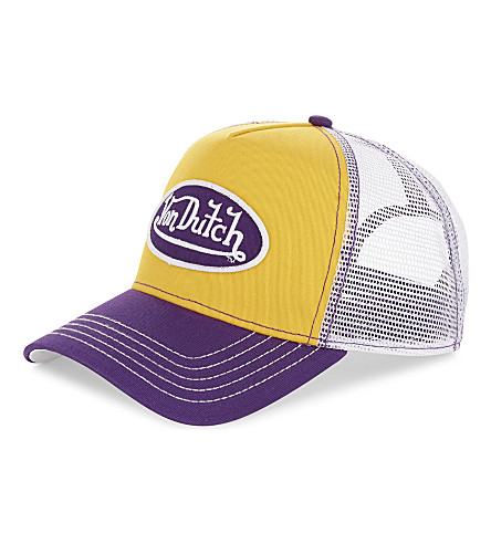 VON DUTCH Logo trucker cap (Yellow+purple