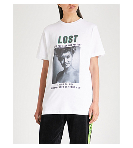 WASTED PARIS Lost Palmer cotton-jersey T-shirt (White