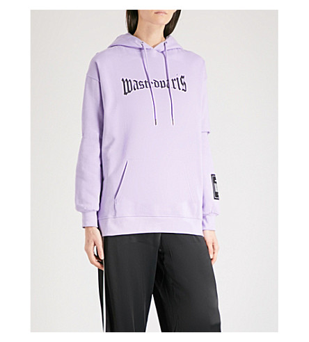 WASTED PARIS Lavender London logo-print cotton-jersey hoody (Lavander