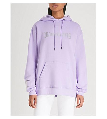 WASTED PARIS London logo-print cotton-jersey hoody (Lavender