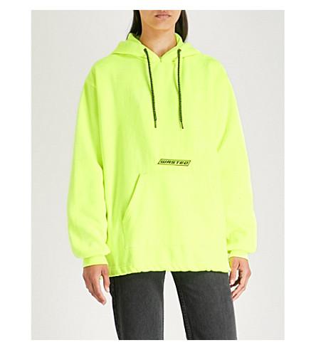 WASTED PARIS 北部标志特征平纹针织棉帽衫 (霓虹灯 + 黄色