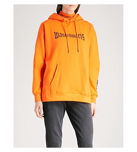 WASTED PARIS London logo-print cotton-jersey hoody (Orange