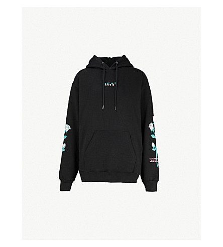 WASTED PARIS Real Lies cotton-jersey hoody (Black