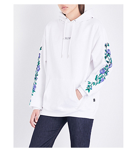 WASTED PARIS White Amore cotton-jersey hoody (White