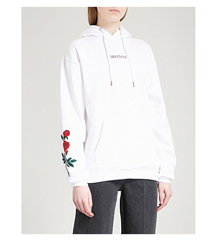 WASTED PARIS Loveless cotton-jersey hoody (White