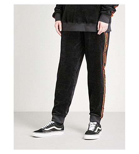 WASTED PARIS Oversized velvet jogging bottoms (Black