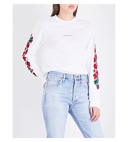 WASTED PARIS White Loveless cotton-jersey top (White