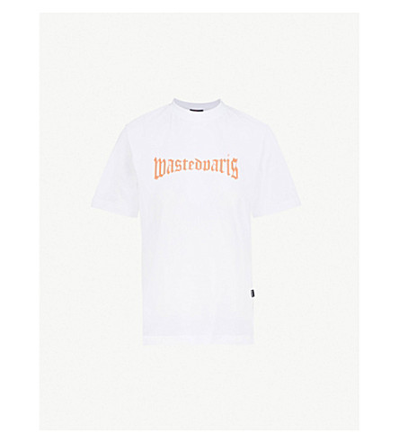 WASTED PARIS White London cotton-jersey T-shirt (White