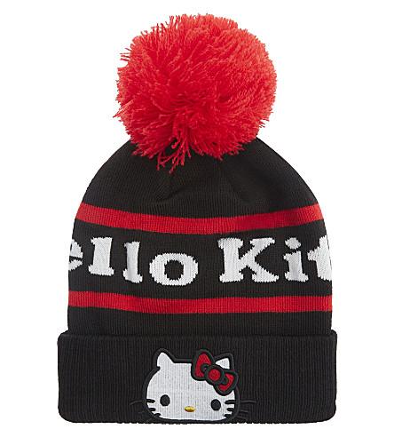 GCDS Hello Kitty knitted beanie (Black