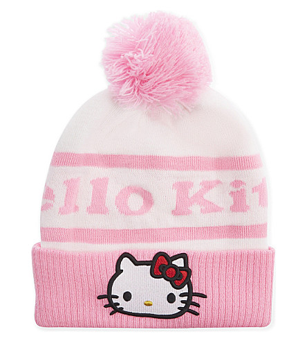 GCDS Hello Kitty knitted beanie (Pink