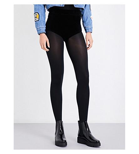 GCDS Logo-embroidered velour shorts (Black