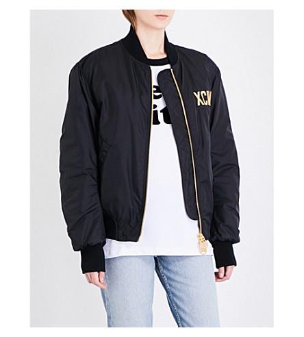 GCDS GCDS Logo shell bomber jacket (Black