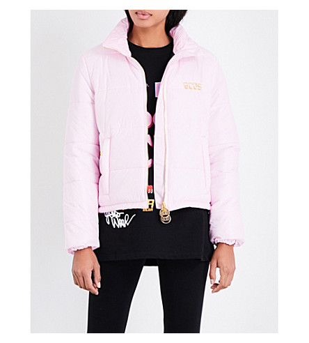 GCDS HK quilted shell puffer jacket (Pink