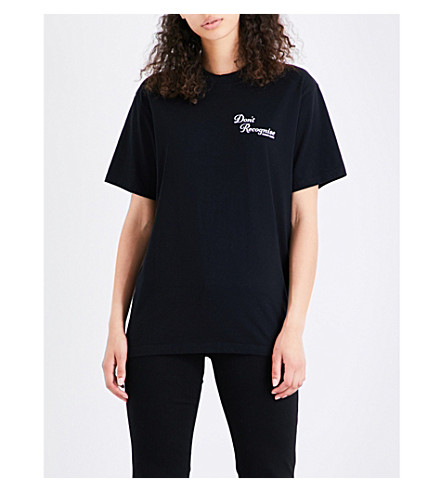 RESORT CORPS Don't Recognise cotton-jersey T-shirt (Black
