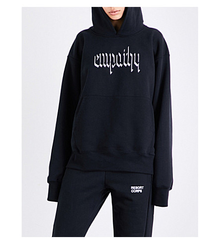 RESORT CORPS Empathy jersey hoody (Black