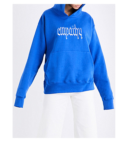 RESORT CORPS Empathy jersey hoody (Blue