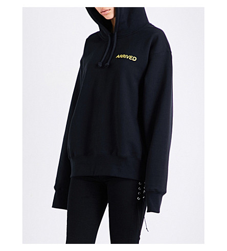 RESORT CORPS Mail Order cotton-blend hoody (Black