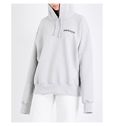 RESORT CORPS Mail Order cotton-blend hoody (Heather+grey