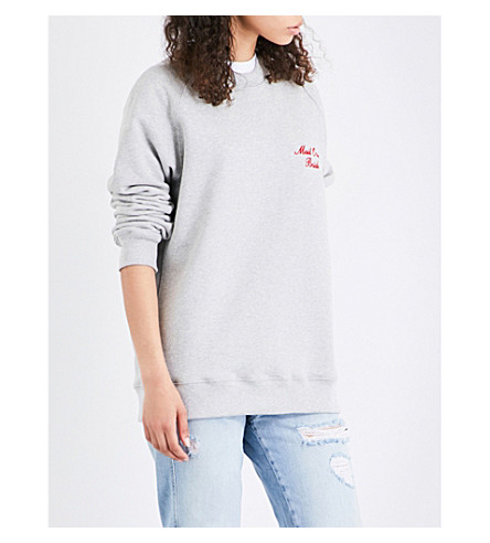 RESORT CORPS Mail Order cotton-blend sweatshirt (Heather grey