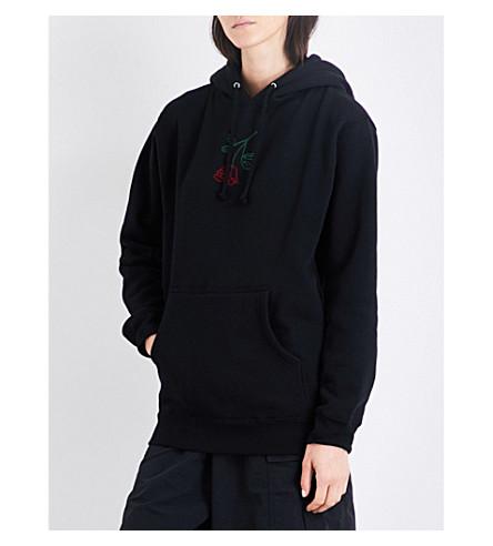 STRANGERS Brand New Rose jersey hoody (Black