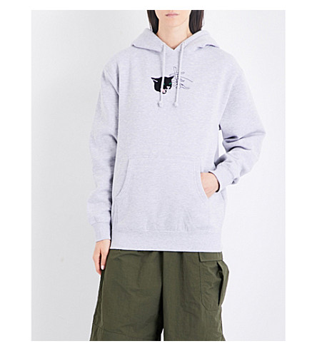 STRANGERS Louie the Cat jersey hoody (Grey