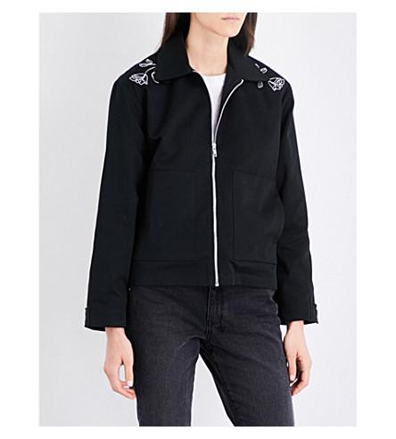 STRANGERS Promises embroidered twill jacket (Black