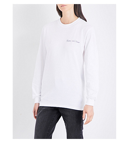 STRANGERS Same Old Lines cotton-jersey top (White
