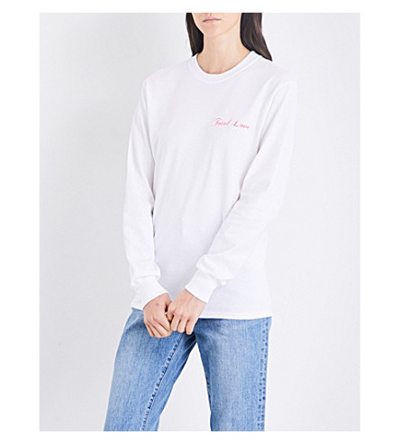 STRANGERS Total Love cotton-jersey top (White