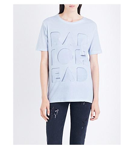 RADIOHEAD Cutout Logo Dye-Sub jersey T-shirt (Grey