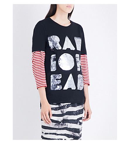 RADIOHEAD Metallic Foil organic cotton-jersey T-shirt (Black