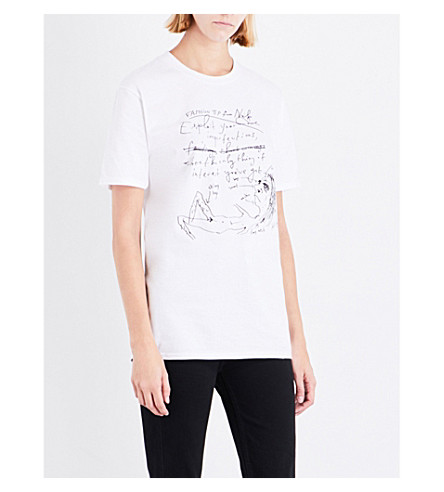 NICK CAVE Fashion Tips cotton-jersey T-shirt (White