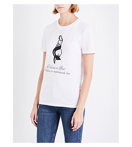NICK CAVE Mermaid cotton-jersey T-shirt (White