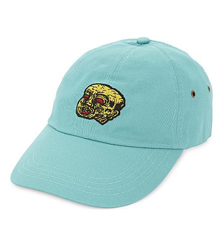 RAT BOY-SCUM Embroidered face cotton cap (Green