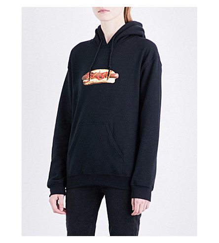 RAT BOY-SCUM Hotdog cotton-jersey hoody (Black