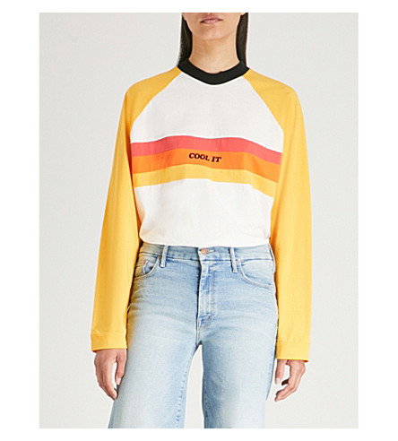 THE RAGGED PRIEST Heat cotton top (Yellow