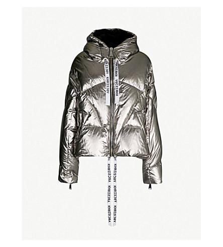 KHRISJOY Metallic shell-down puffer jacket (Metallic silver