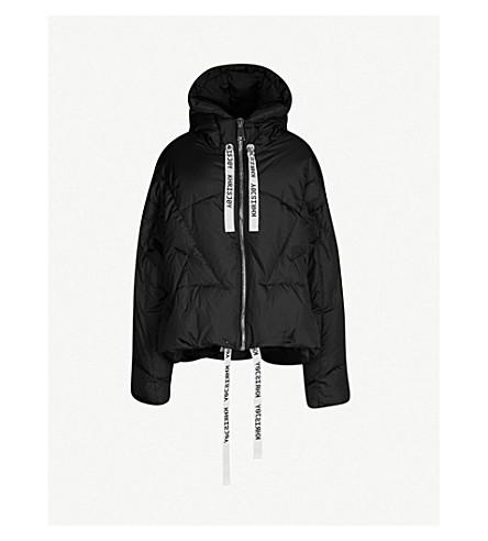 KHRISJOY Oversized shell-down puffer jacket (Black