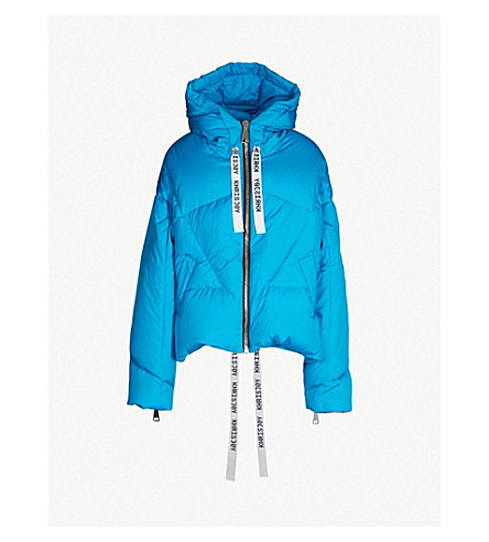 KHRISJOY Oversized shell-down puffer jacket (Turquoise