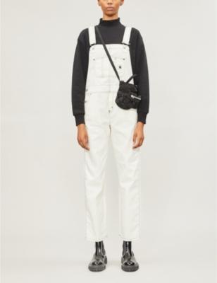 W' Bib straight-leg denim overalls