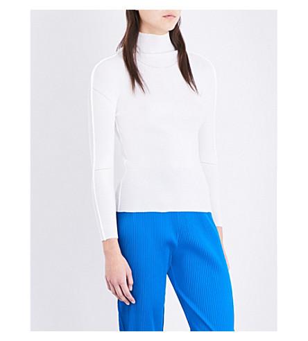 CAULIFLOWER High-neck woven top (White