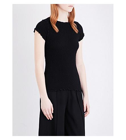 CAULIFLOWER Basic stretch-cotton T-shirt (Black