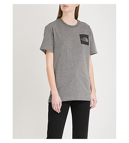 THE NORTH FACE Logo-print cotton-jersey T-shirt (Tnf+medium+grey+heather