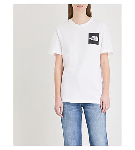 THE NORTH FACE Logo-print cotton-jersey T-shirt (Tnf+white/tnf+black