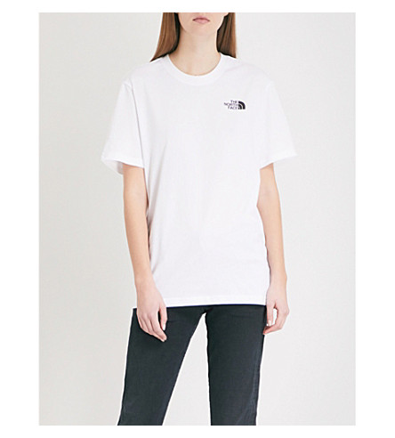 THE NORTH FACE Back logo-print cotton-jersey T-shirt (Tnf+white
