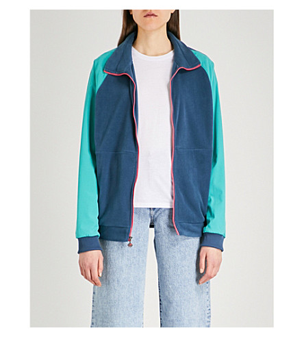 THE NORTH FACE Staff contrast-panel fleece and shell jacket (Green/blue+teal