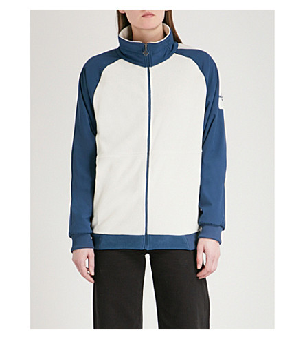 NORTH FACE Logo-embroidered fleece and shell jacket (Teal/vintage+white
