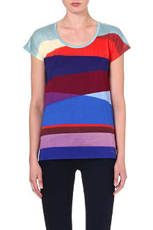 PAUL BY PAUL SMITH Panelled jersey t-shirt