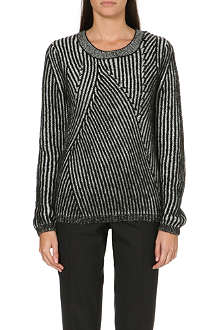 PAUL BY PAUL SMITH Asymmetric-stripe knitted jumper