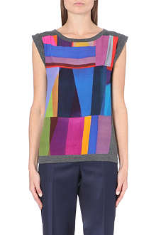 PAUL BY PAUL SMITH Shard-print panelled top